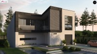 Проект дома с мансардой и гаражом Z450