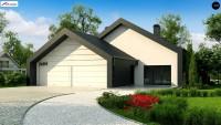 Проект дома с гаражом Zx251