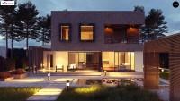 Проект одноэтажного дома с гаражом Zx255