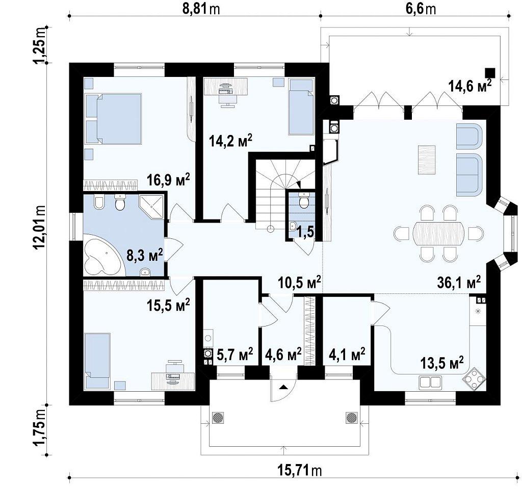 Первый этаж  дома Z10 stu bk