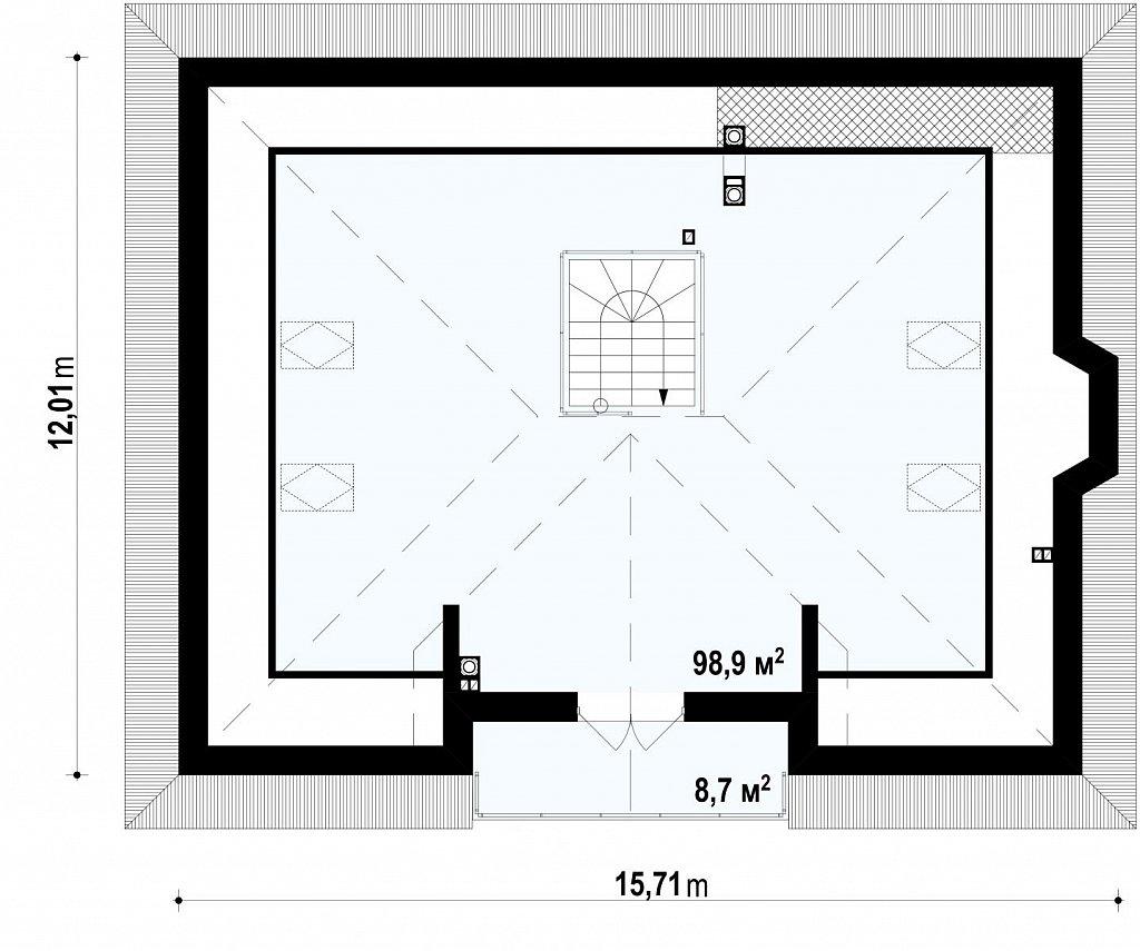 Второй этаж  дома Z10 stu bk