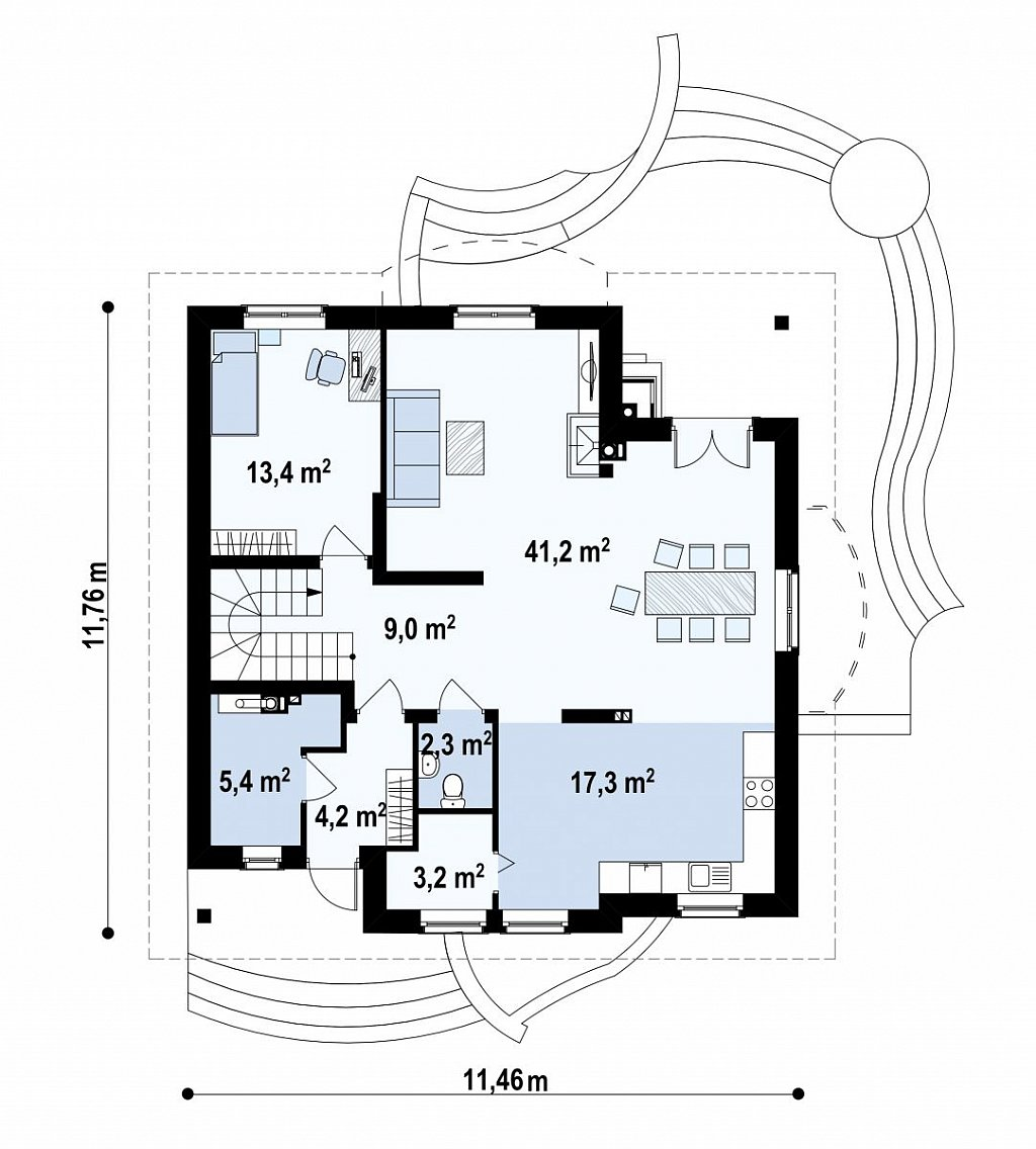 Первый этаж  дома Z18