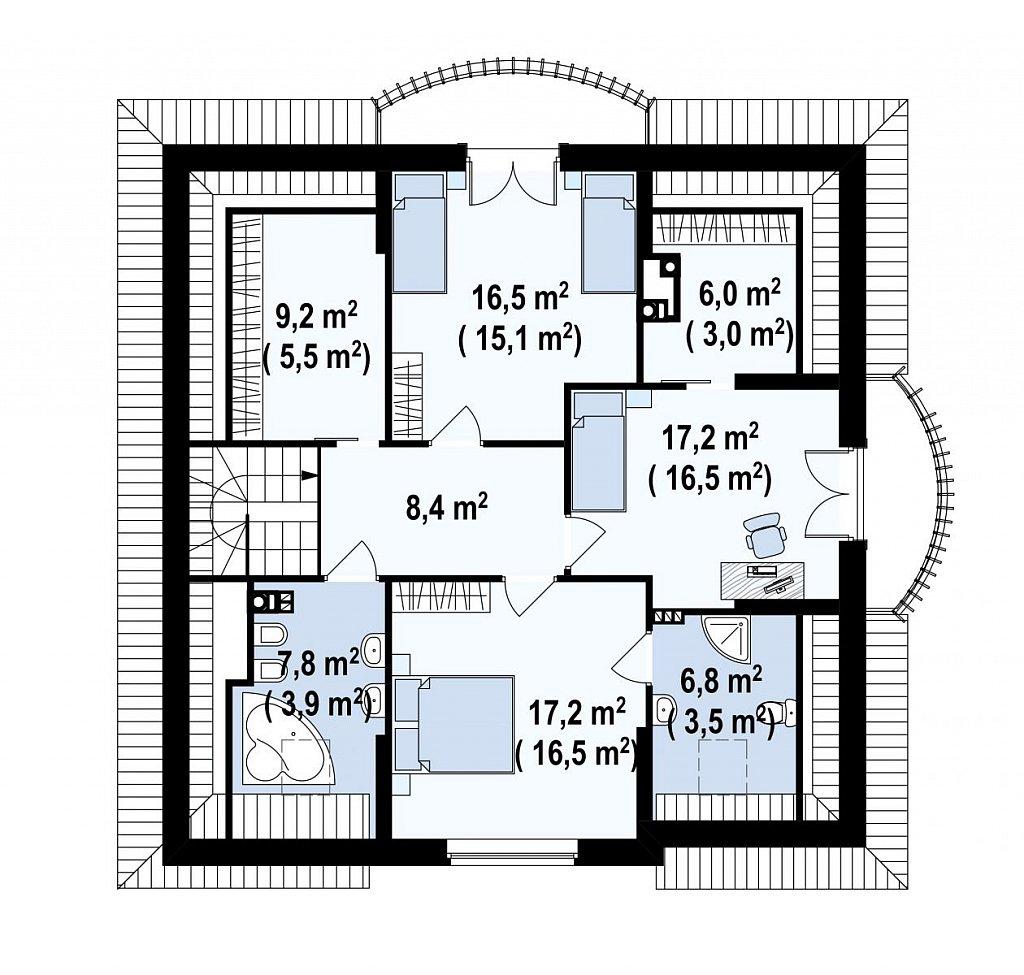 Второй этаж дома Z18