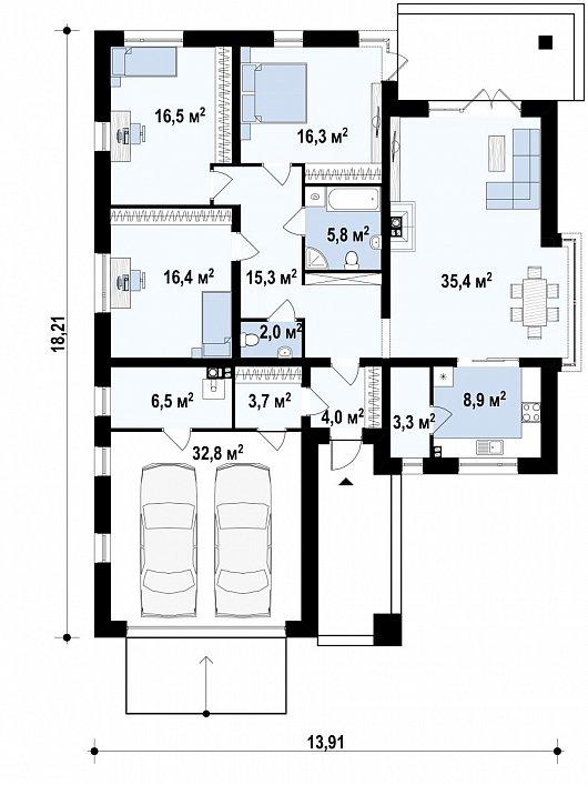 Первый этаж  дома Z200
