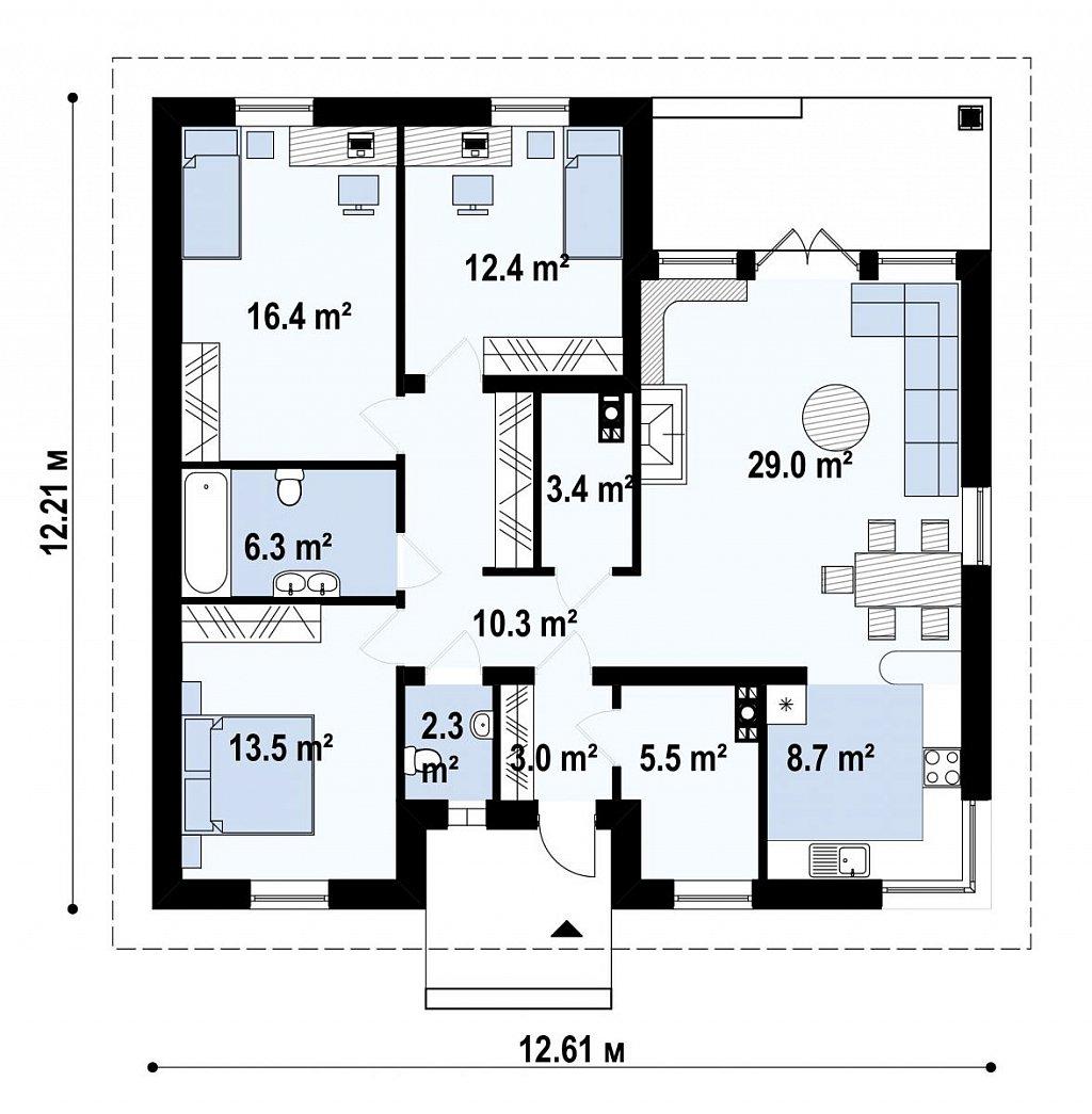 Первый этаж дома Z24