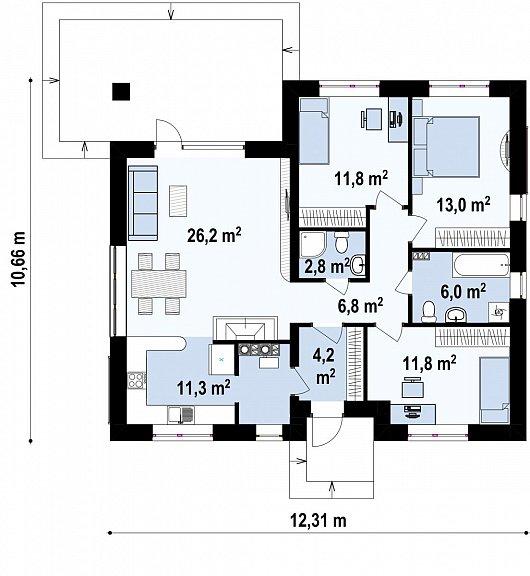 Первый этаж дома Z273