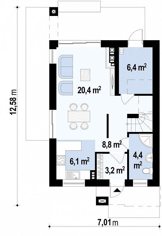 Первый этаж  дома Z297