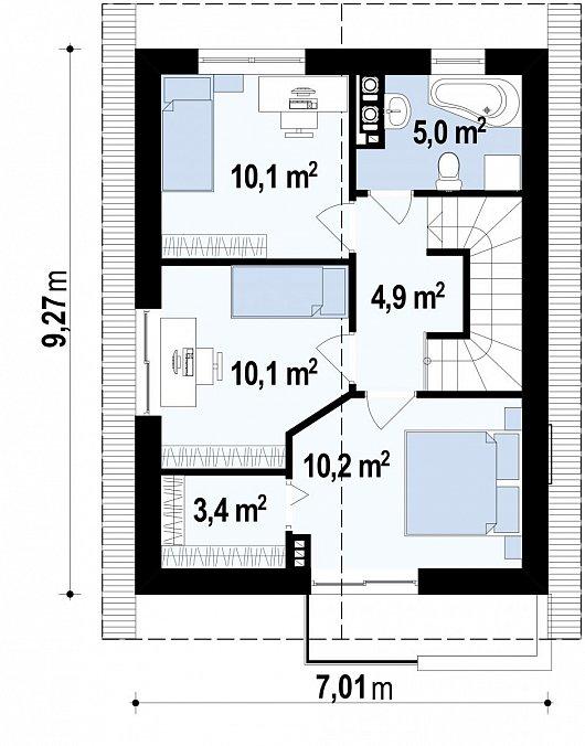 Второй этаж дома Z297