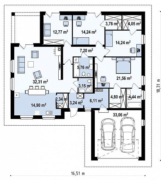 Первый этаж  дома Z301