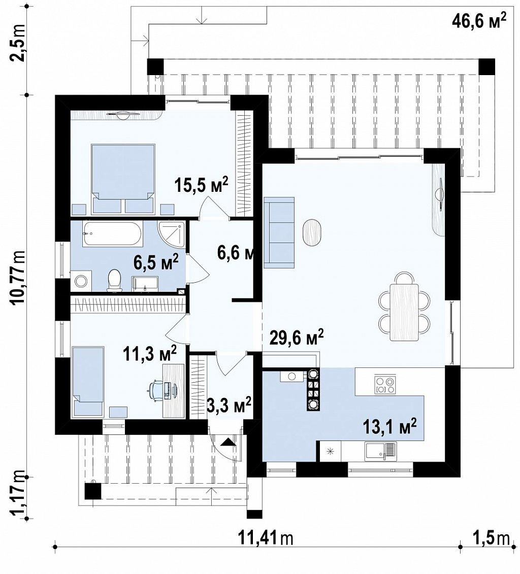 Первый этаж 99,8 дома Zx105