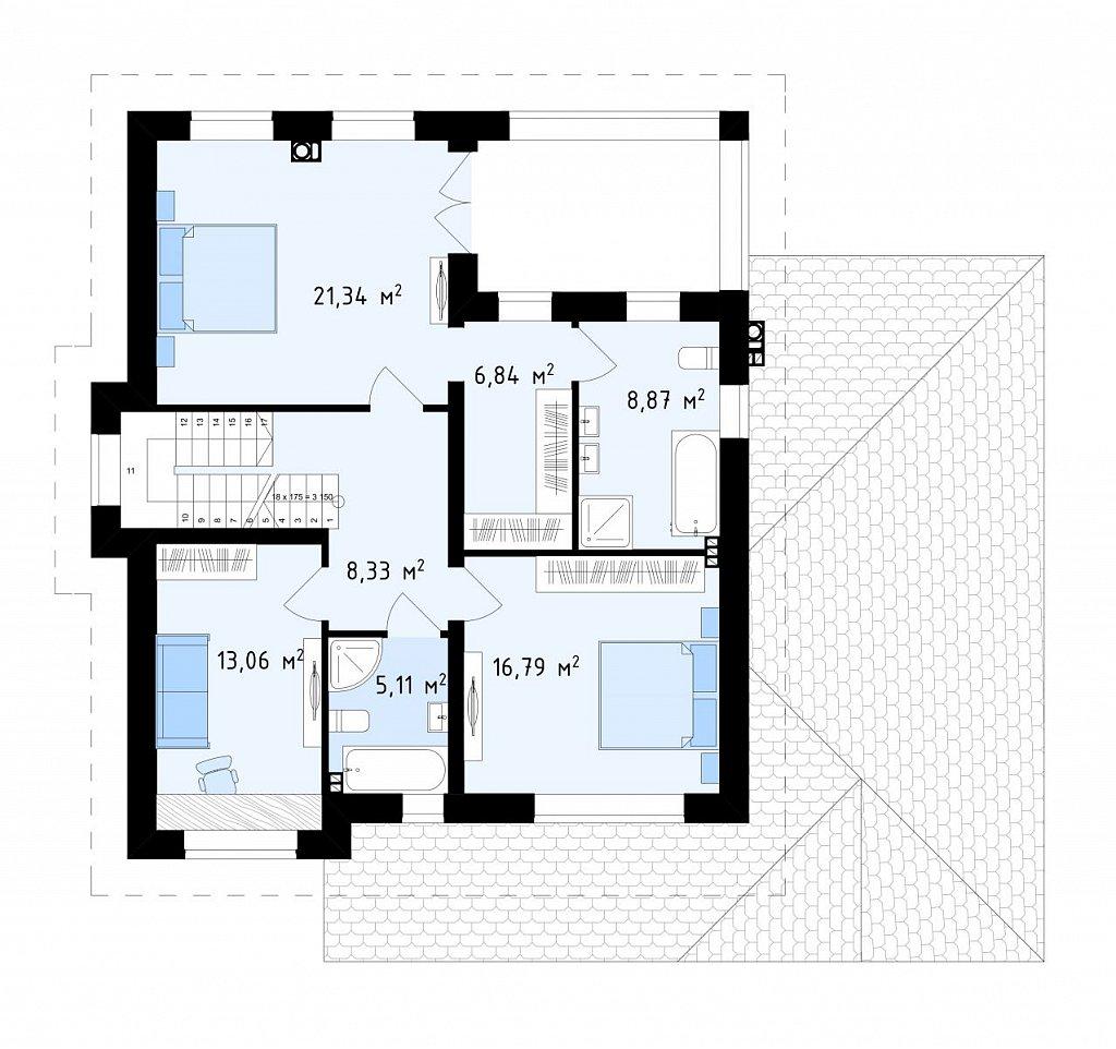 Второй этаж  дома ZZ2