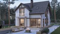 Проект современного дома фото ZH18