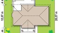 Минимальные размеры участка для проекта Z2 L + w