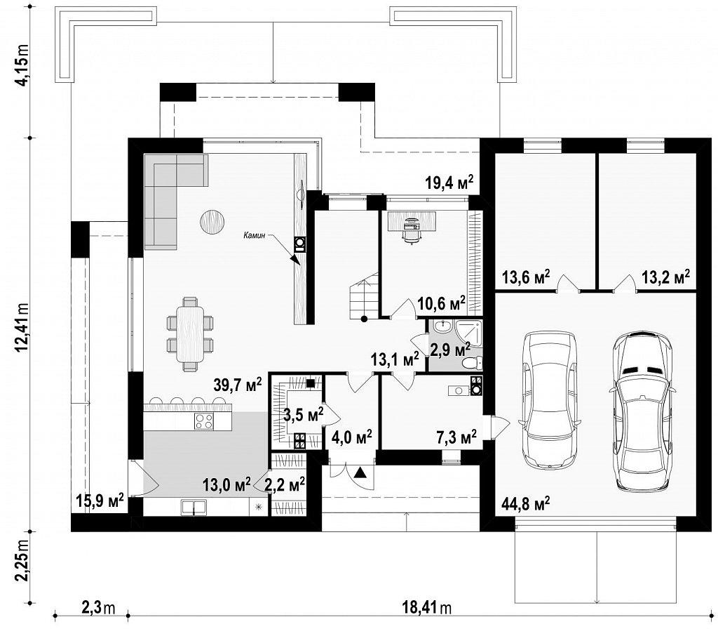 Первый этаж 211,2 м дома Z291