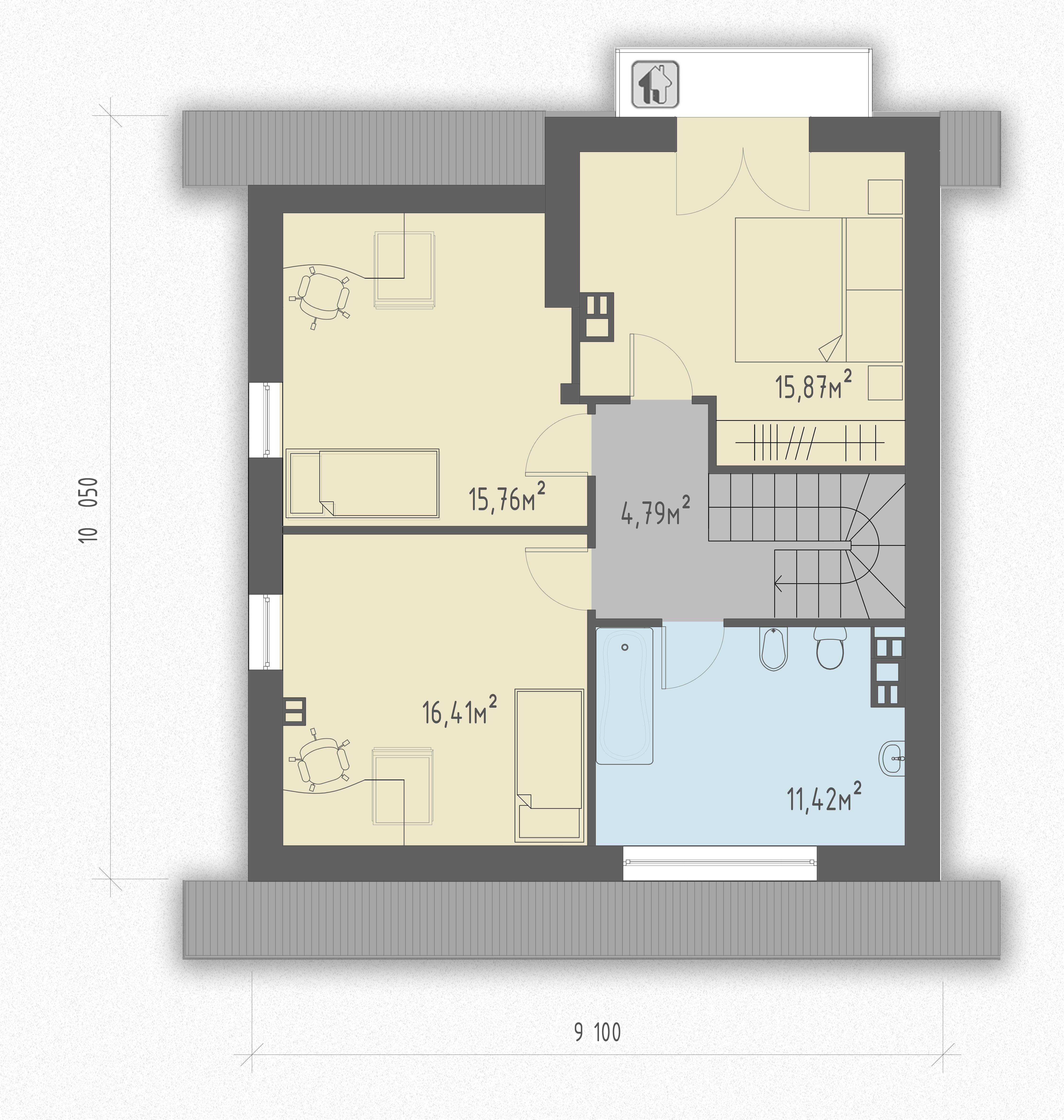 Второй этаж дома ZH18