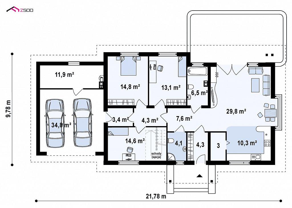 Первый этаж 162,5 м² дома Z106 GL2
