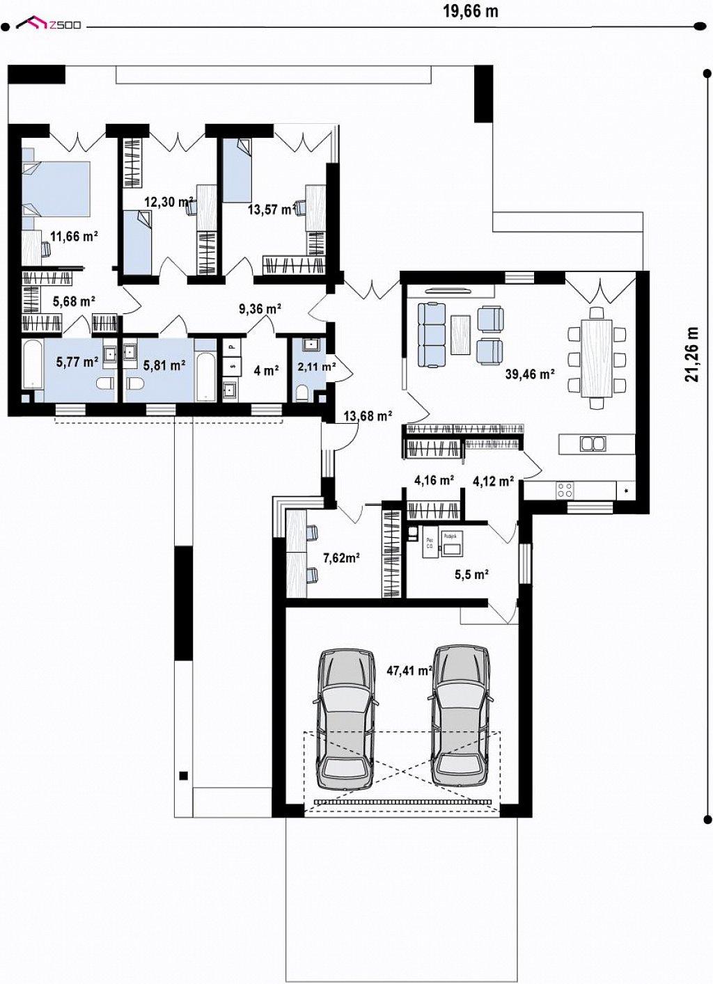 Первый этаж 191,6 м² дома Zx260