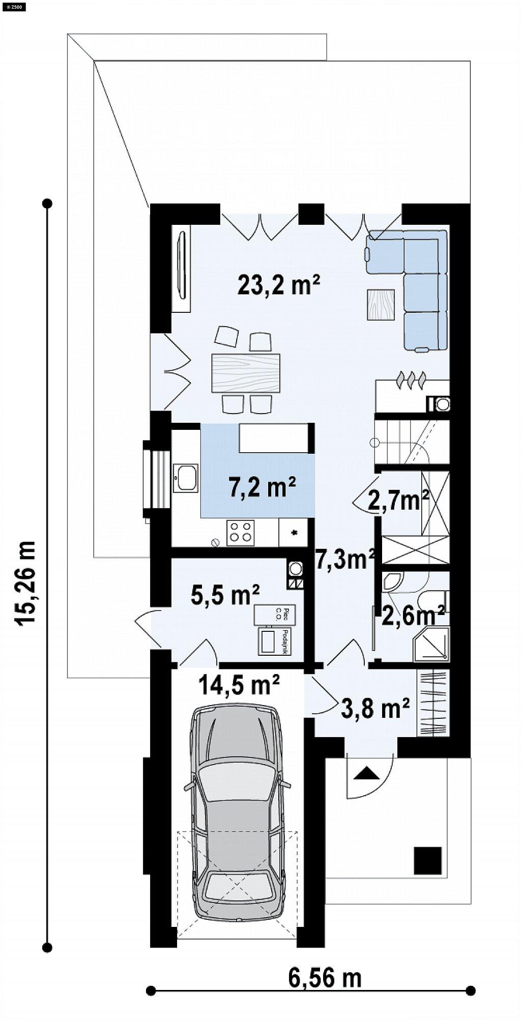 Первый этаж 65,9 м² дома Z374
