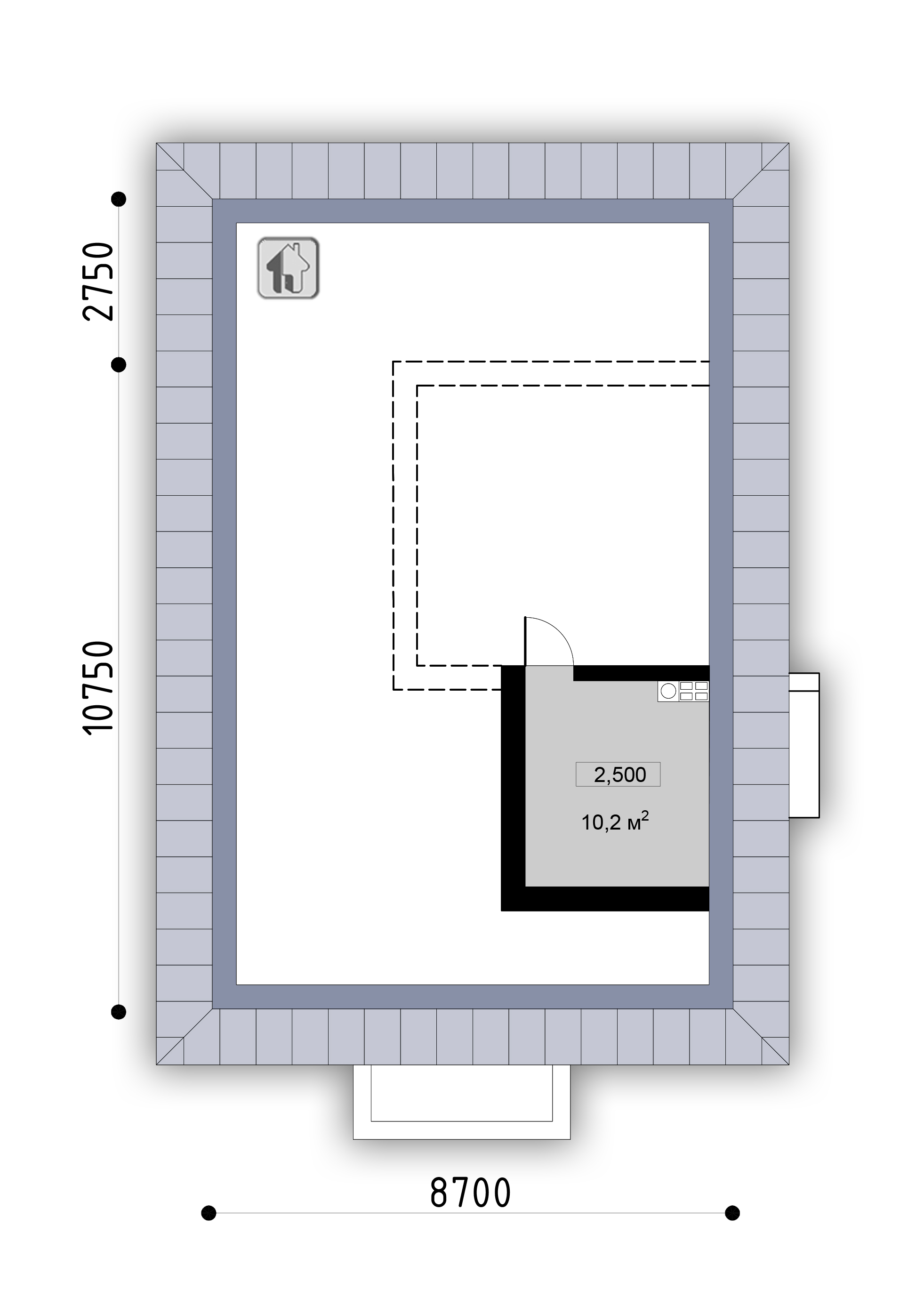 План антресоли  дома ZH22