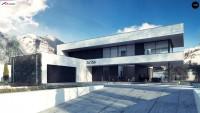 Проект двухэтажного дома с гаражом Zx154