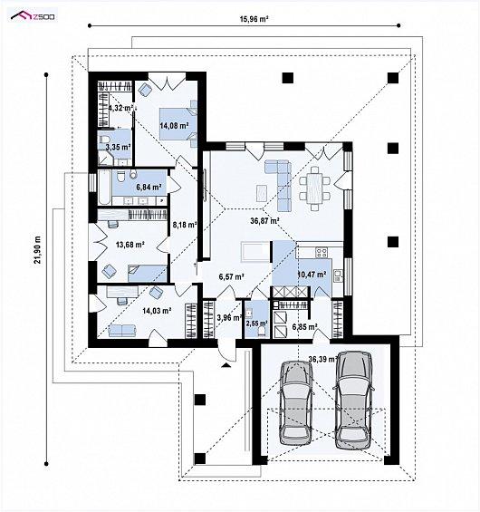 Первый этаж 168,2 м² дома Z409