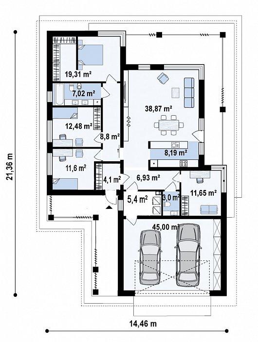 Первый этаж182,7 м² дома Z411