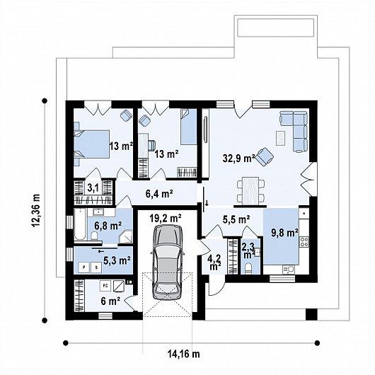Первый этаж127,4 дома Z429