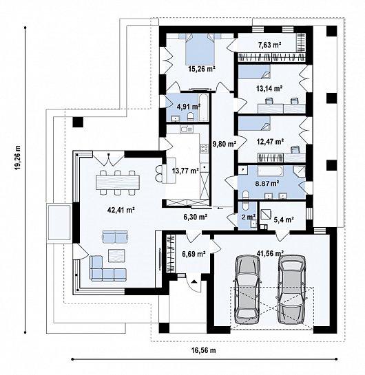 Первый этаж 190,3 м² дома Z471