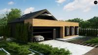 Проект дома с мансардой и гаражом 150 Z463