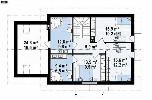 Второй этаж 97,0 м дома Z405
