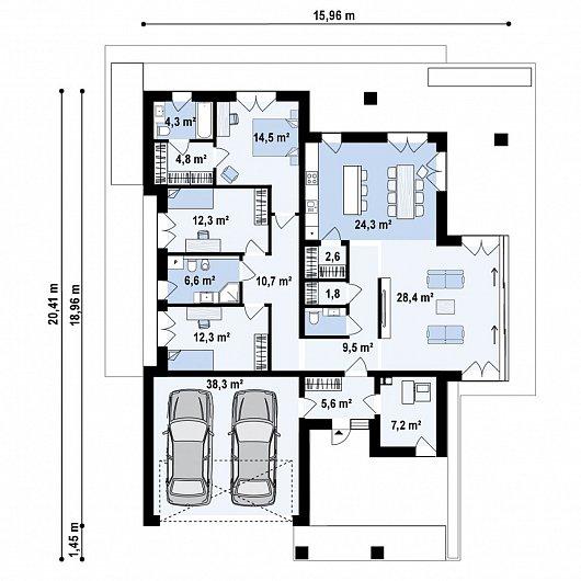 Первый этаж 185,5 м дома Z425