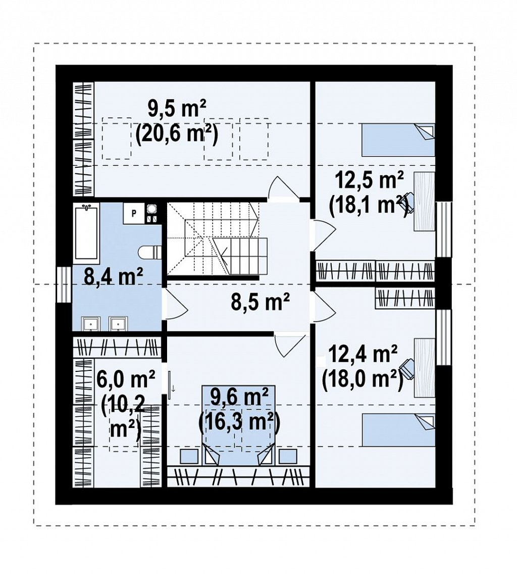 Второй этаж 100,1 м² дома Z436