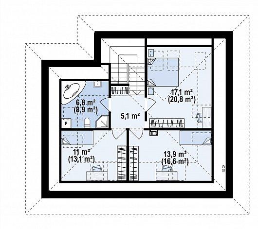 Второй этаж 64,5 м² дома Z482