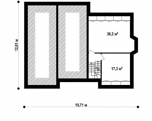 Подвал 47,5 м² дома Z10 P