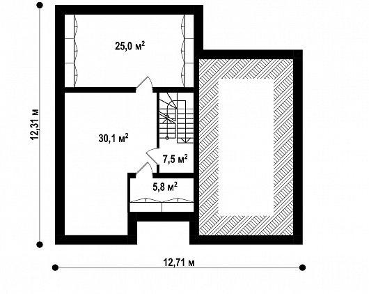 Подвал 68,4 м² дома Z24 P