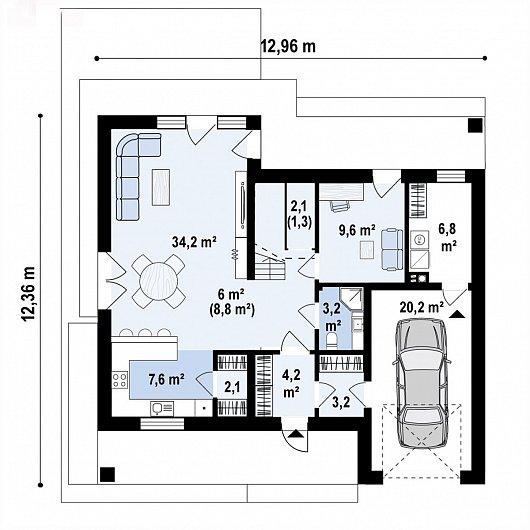 Первый этаж 101,9 м дома Z439
