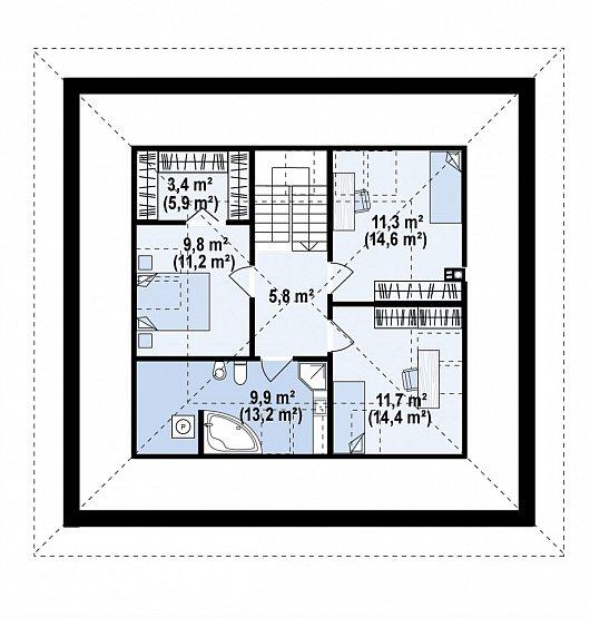 Второй этаж 65,1 м дома Z439
