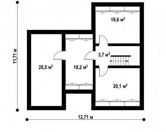 Подвал 88,1 м² дома Zx24 P