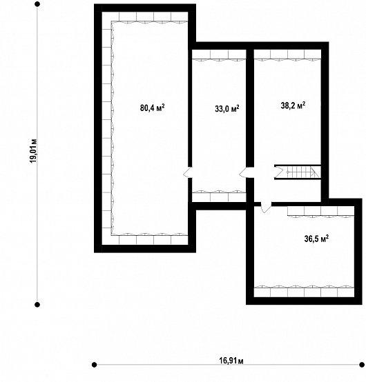 Подвал 188,1 м² дома Z378 P