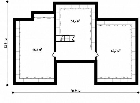 Подвал 182,7 м² дома Zx22 P