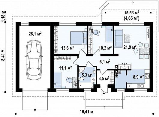 Первый этаж 113,3 дома Z7 L GL