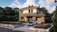 Проект двухэтажного дома Zz11k+